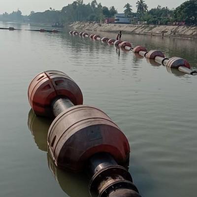 Dredge Pipe and Plastic Floats Dredge line for River Dredging or Flood Mitagation