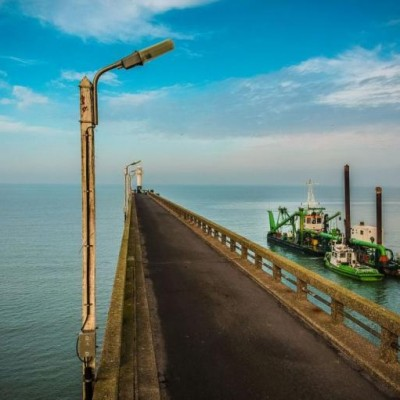 Floating hoses Dredge line components for Port or Harbour Construction