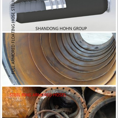 HOHN GROUP Full armored rubber floating hoses  with high chromium alloy surfacing