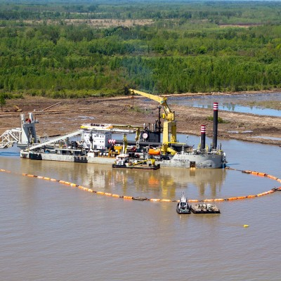 Dredge line components for Port and estuary maintenance