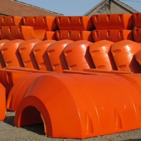 Plastic Floaters for Worldwide Dredging works.