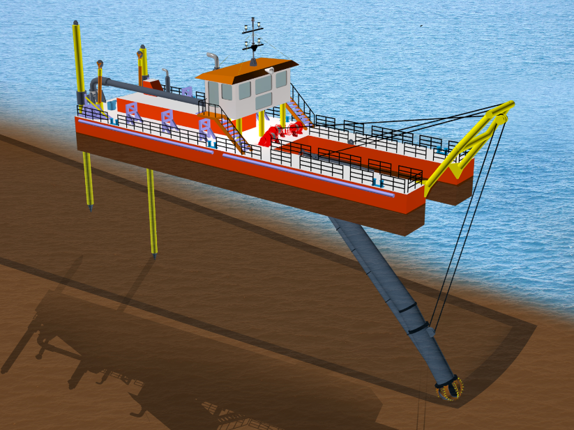 26inch cutter sution dredger floating pipelines