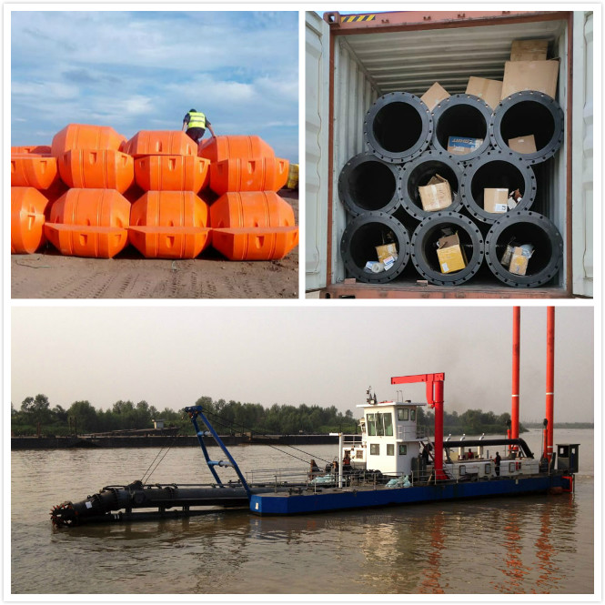 PE floaters and Flexible Hoses for CSD Dredge line